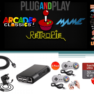 Raspberry Pi 3B Plus Retro Games Console – 32GB Arcade Gaming Machine Retropie