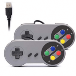 Pack of 2 Super Nintendo SNES controllers with USB connection