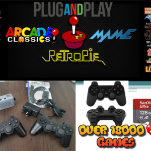 Ultimate Raspberry Pi 3B  Retro 18000 Games Console – 128GB Arcade Gaming Machine Retropie