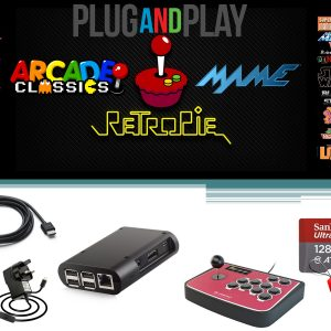 Ultimate Raspberry Pi 3B Plus Retro Games Console – 128GB Arcade Gaming Machine Retropie