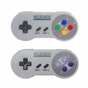Pack of 2 Wireless Super Nintendo SNES controllers with USB connection