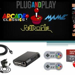 Raspberry Pi 3B Plus Retro Games Console – 32, 64, 128GB Arcade Gaming Machine Retropie