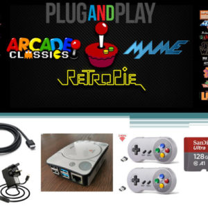 Raspberry Pi 4 model B Retro Games Console -128GB Arcade Gaming Machine Retropie
