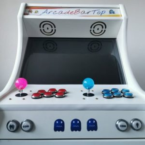 White 10000+ Games Bartop Arcade Cabinet