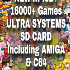 NEW RPI3B+ 16000+ Games ULTRA SYSTEMS 128GB SD CARD Including AMIGA & C64