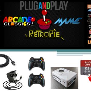 Raspberry Pi 4 model B Retro Games Console -128GB Arcade Gaming Machine Retropie