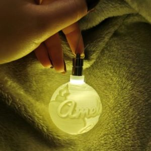 3D Personalised Christmas tree bauble